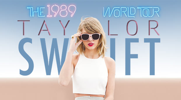 Poster for Taylor Swift's 1989 World Tour. Photo credit: www.taylorswift.com