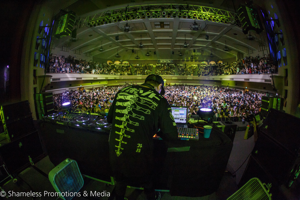 Datsik performing at Safe In Sound Festival in San Jose, California. Photo by Jared Stossel.