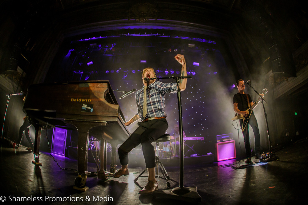Andrew McMahon (vocals, piano) and Bobby Anderson (guitar) of Jack's Mannequin performing at The Regency Ballroom in San Francisco, CA. January 20, 2016. Photo: Jared Stossel.