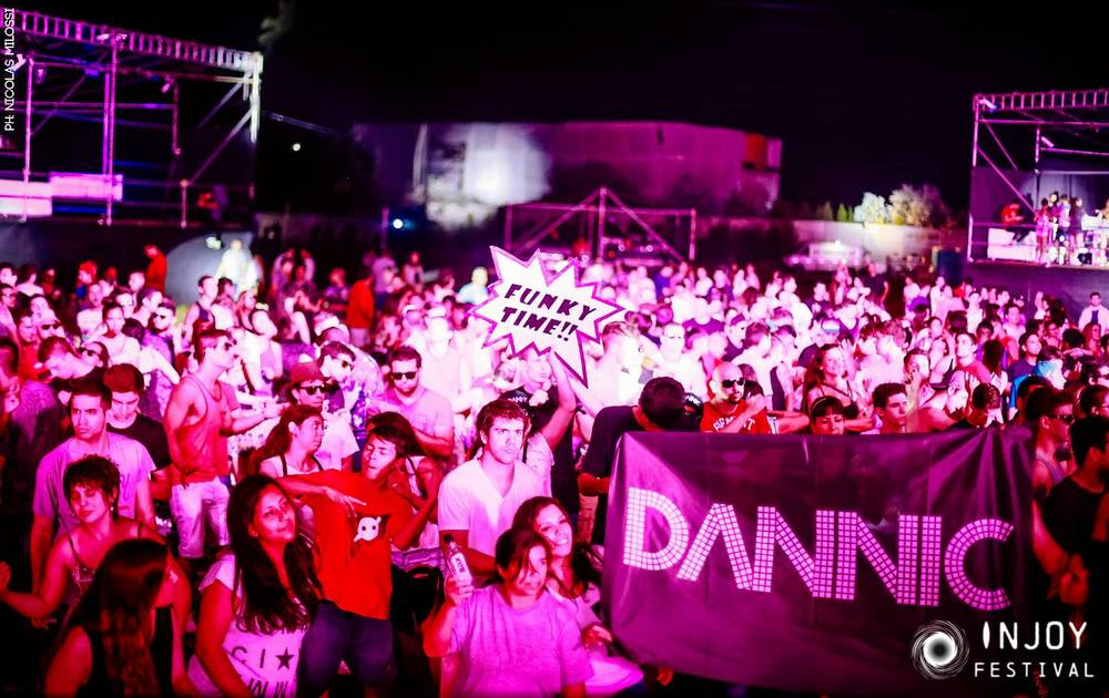The crowd watching Dannic and HIIO performing at INJOY Festival.