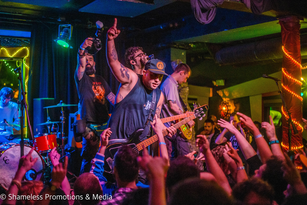 Man Overboard performing at Bottom of the Hill in San Francisco, CA. April 2016. Photo: Jared Stossel.