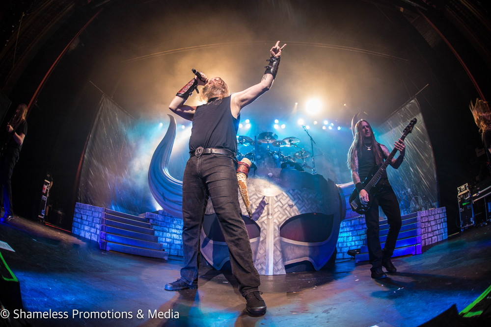Amon Amarth performing in San Francisco, CA at The Warfield Theater on May 20, 2016. Photo: Jared Stossel.