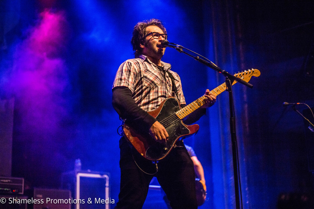 Justin Pierre of Motion City Soundtrack performing at The Regency Ballroom on the band's farewell tour in San Francisco, CA. Photo: Jared Stossel.