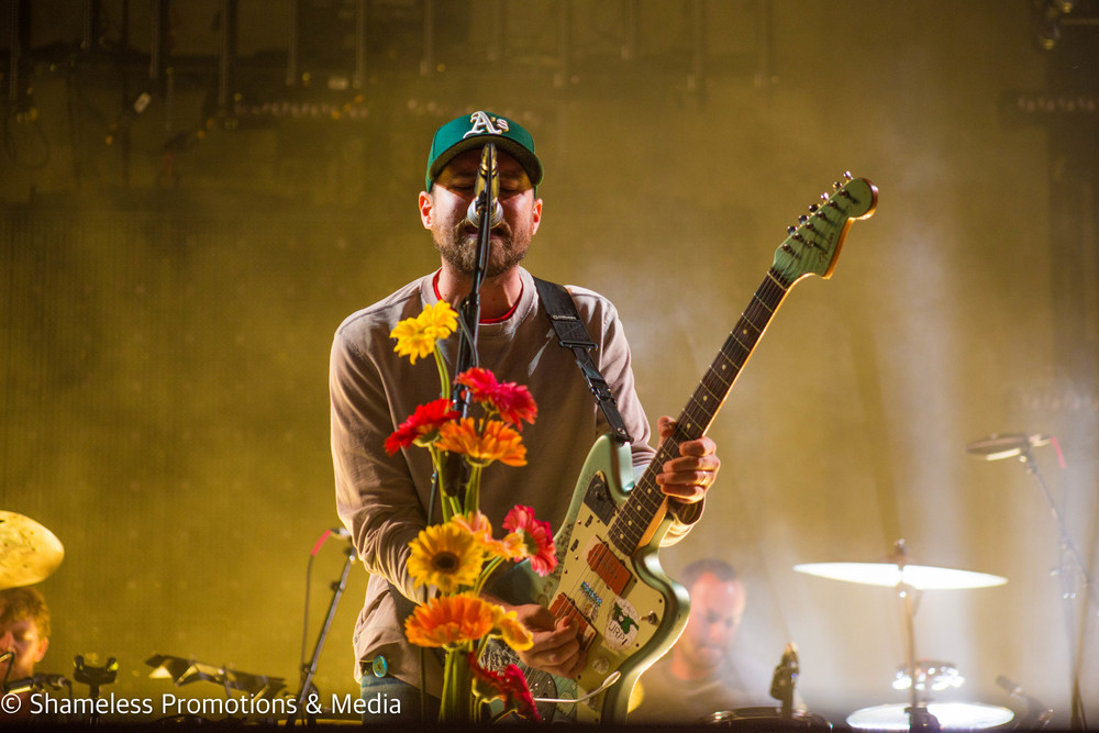 Jesse Lacey of Brand New performing at The Greek Theater in Berkeley, CA.