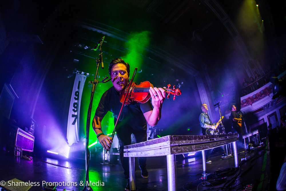 Sean Mackin of Yellowcard performing in San Francisco, CA at The Regency Ballroom. October 22, 2016. Photo: Jared Stossel