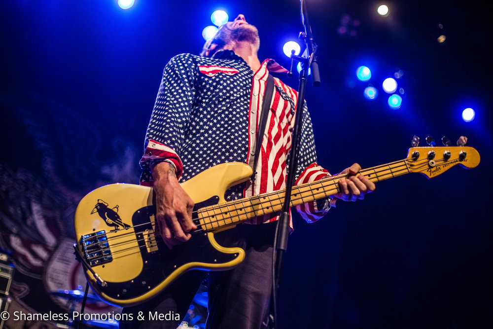 Jay Bentley of Bad Religion performing at The Warfield in San Francisco, CA. October 30, 2016. Photo: Jared Stossel.