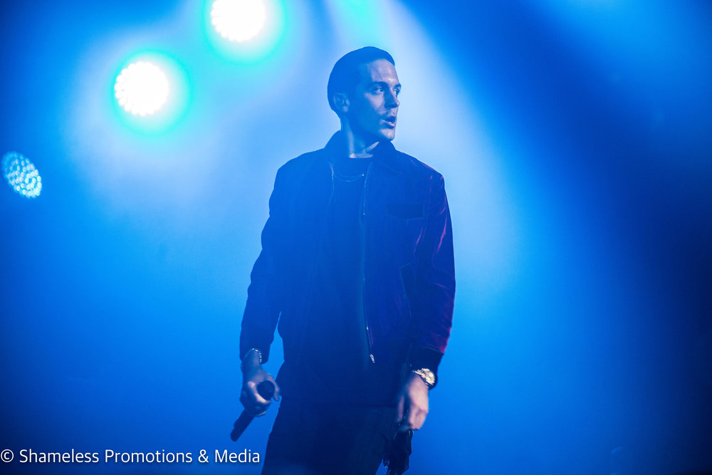 G-Eazy performing at Oracle Arena in Oakland, CA. December 14, 2016. Photo: Jared Stossel