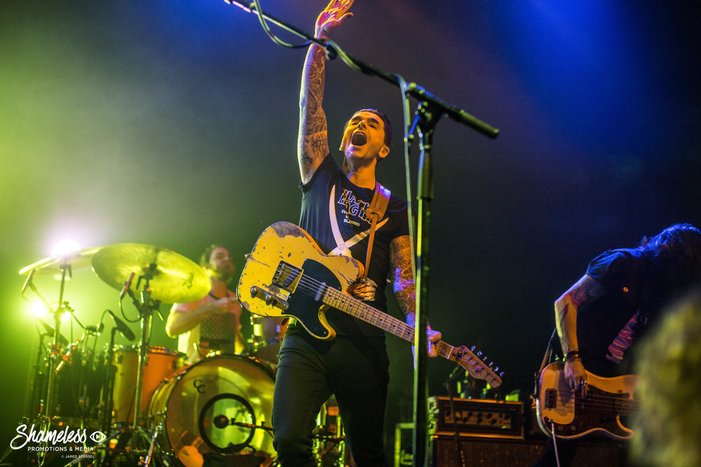 Chris Carrabba of Dashboard Confessional performing at The Fillmore in San Francisco, CA. February 2, 2017. Photo: Jared Stossel