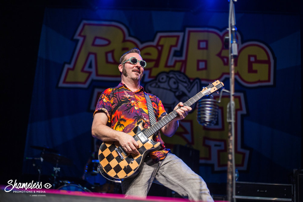 Aaron Barrett of Reel Big Fish performing at The Regency Ballroom in San Francisco, CA. February 15, 2017. Photo: Jared Stossel