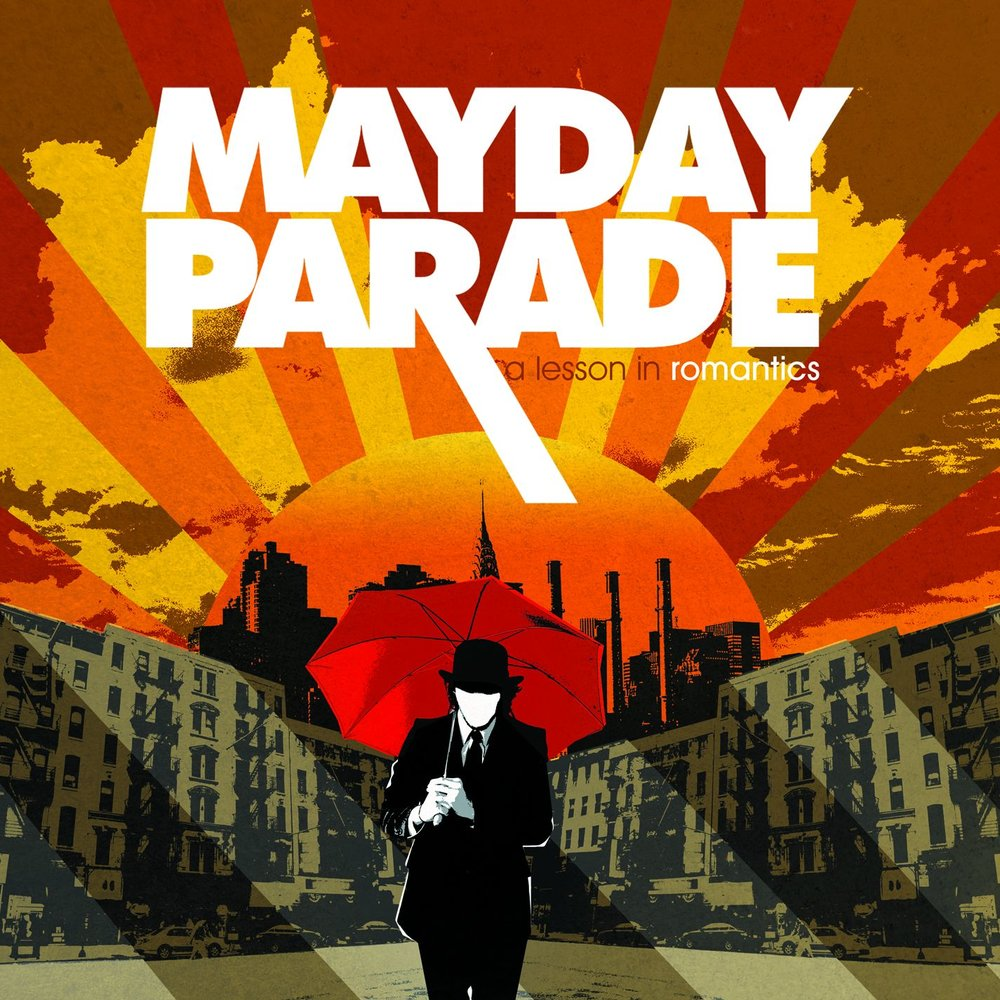 Artwork for Mayday Parade's debut album, 'A Lesson In Romantics'.