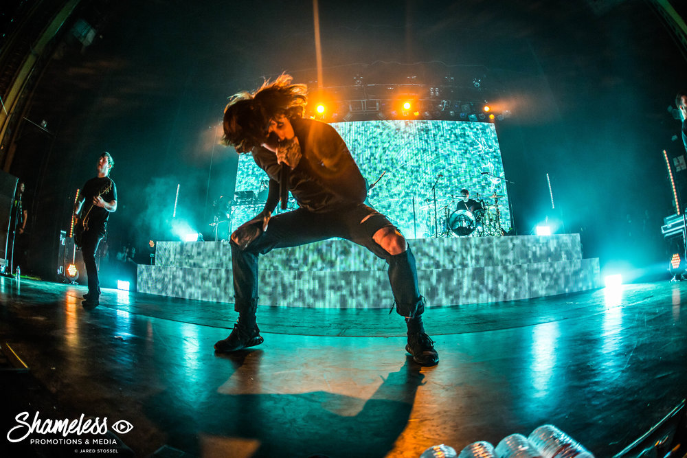 Bring Me The Horizon performing at The Warfield in San Francisco, CA on the 'American Nightmare' Tour. April 4, 2017. Photo: Jared Stossel