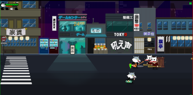 "Screenshot of gameplay from ""Dead End In Tokyo - The Game""."