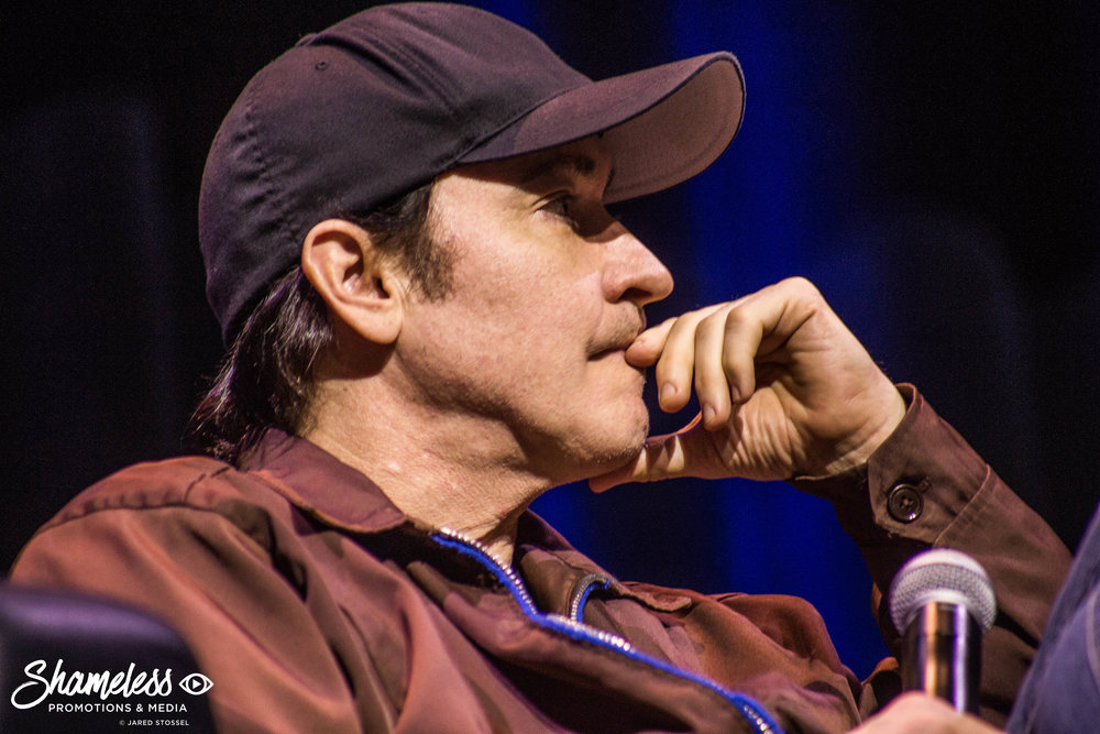 John Cusack speaking at the Silicon Valley Comic Con in San Jose, CA. April 22, 2017. Photo Credit: Jared Stossel.