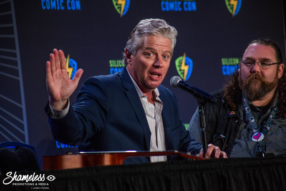 Tom Wilson speaking at Silicon Valley Comic Con. April 23, 2017. Photo Credit: Jared Stossel