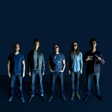 311.  Drummer  CHAD SEXTON,  singer/guitarist  NICK HEXUM , singer  S.A. MARTINEZ , guitarist  TIM MAHONEY  and bassist  P-NUT .   Photo credit: Brian Bowen Smith