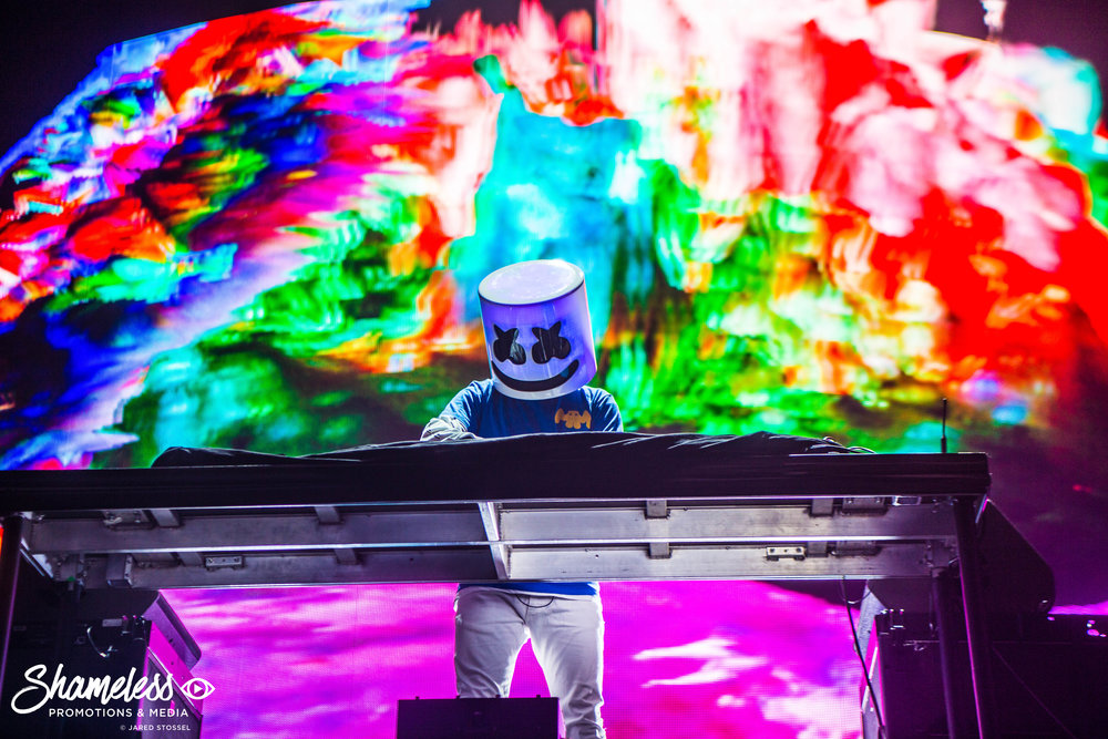 Marshmello performing at Bill Graham Civic Auditorium in San Francisco, CA. January 13, 2018. Photo Credit: Jared Stossel