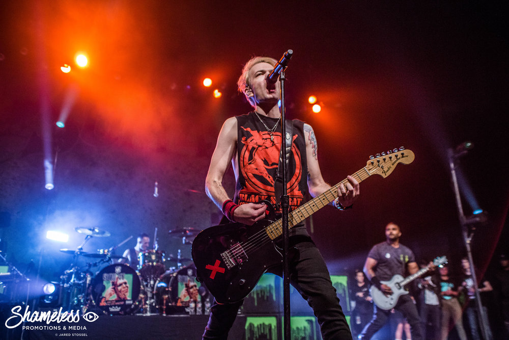 Sum 41 performing at The Regency Ballroom in San Francisco, CA at The Warfield. April 27, 2018. Photo Credit: Jared Stossel.