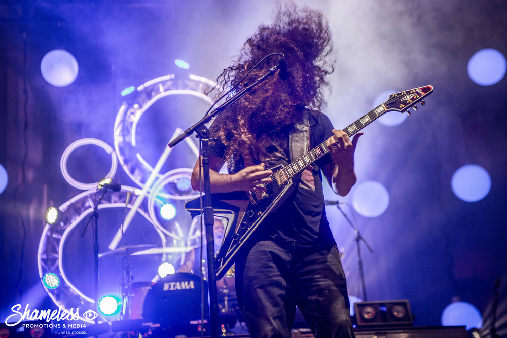 Claudio Sanchez of Coheed & Cambria performing at The Greek Theatre in Berkeley, CA. August 9, 2018. Photo: Jared Stossel