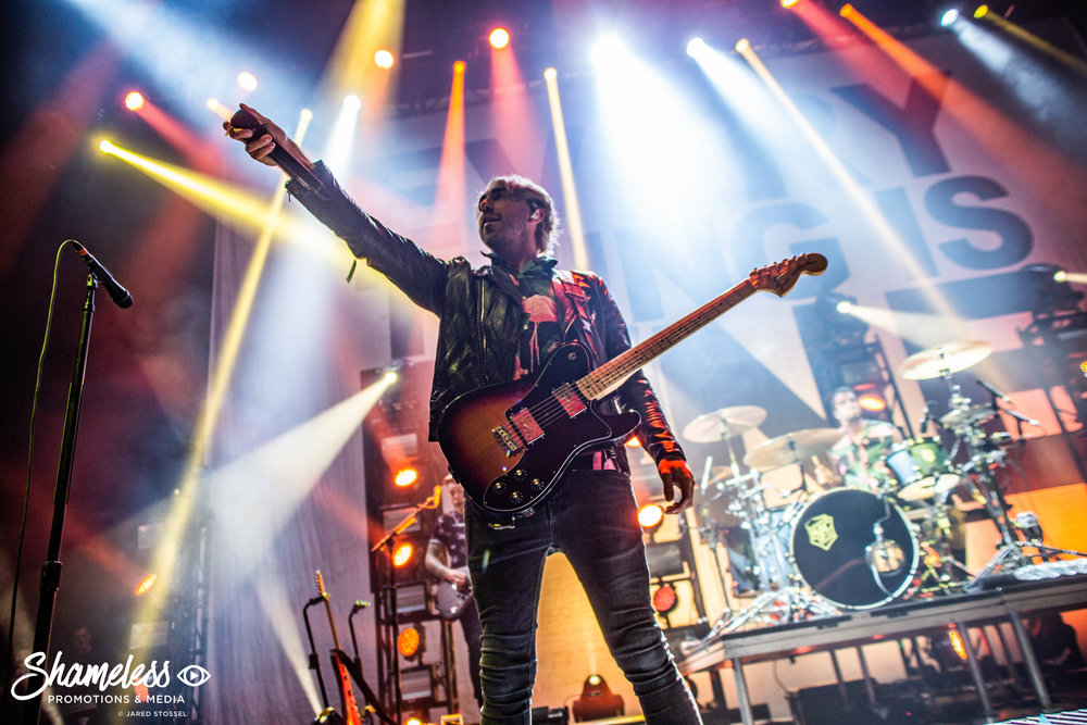 Alex Gaskarth of All Time Low performing at The Masonic in San Francisco, CA. October 12, 2018. Photo Credit: Jared Stossel