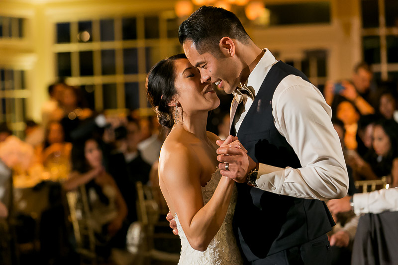 Bride and Groom first dance at Summit House Restaurant in Fullerton, CA