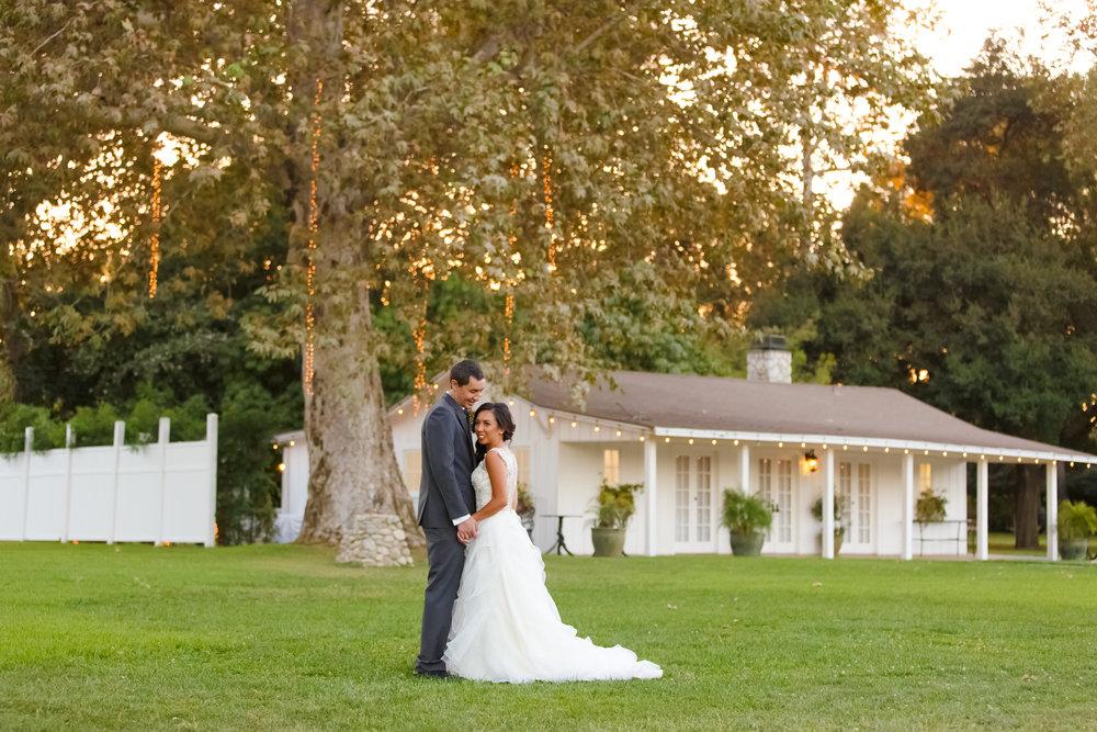 Calamigos Equestrian, White House, wedding, venue, southern california, couple, romantics, portraits, sunset, evening, bride, groom, vivienne atelier, gown, suit, husband, wife