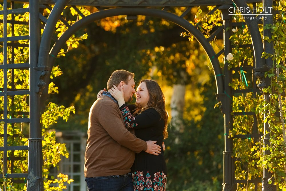 descanso gardens, floral, Japanese gardens, engagement session, reflection, trellis, gazebo, backlight, sunlight, sunset, couple, romantic, portraits, garden, happy, love, wedding, southern california, private