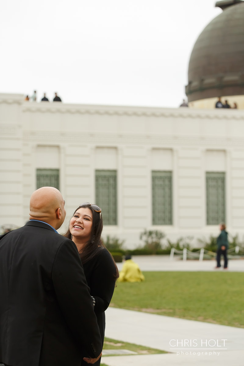 surprise proposal, griffith park, observatory, los angeles, skyline, downtown los angeles, marriage proposal, , la, iconic, hollywood, la county, proposal ideas, inspiration, romantic