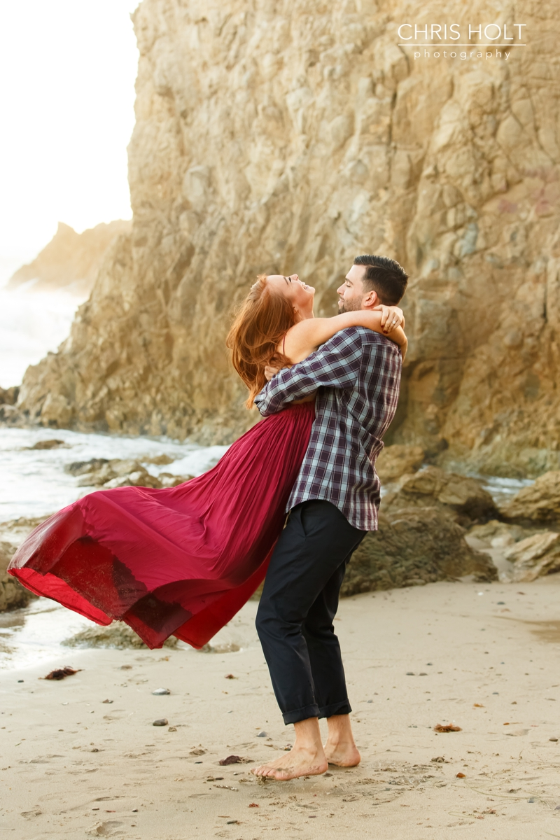 proposal, el matador, engagement, malibu, los angeles, surprise, beach, sunset, southern california, destination, wedding, photographers near me, santa barbara, new york, new jersey