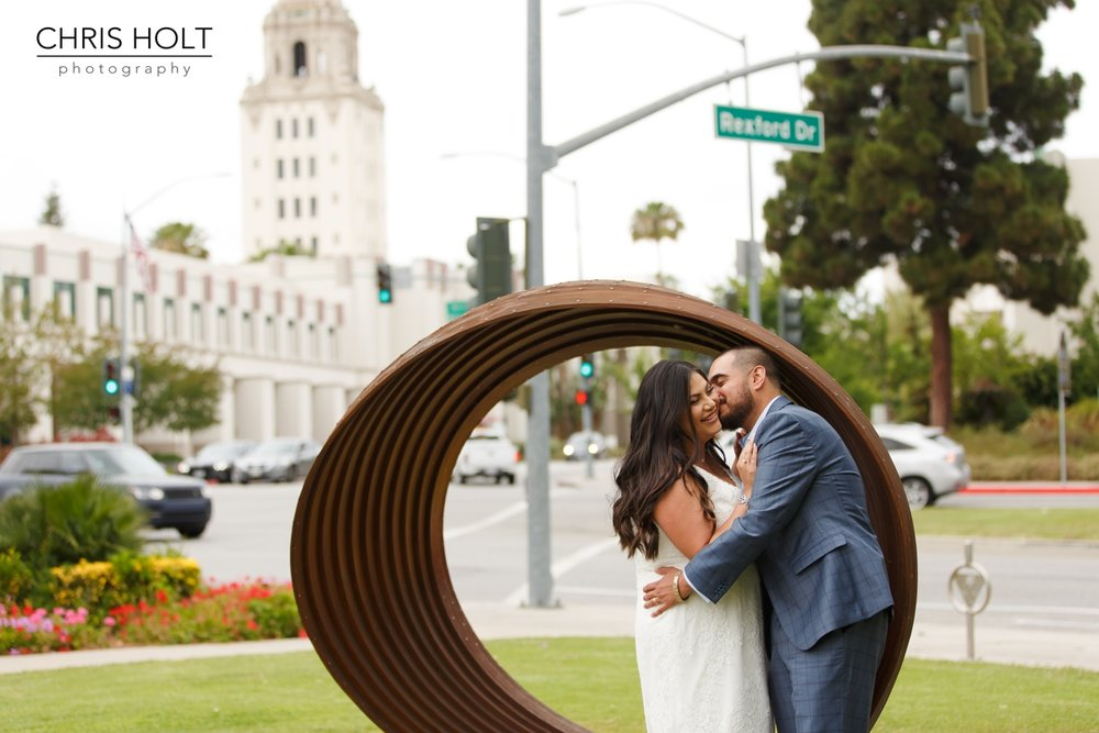 Couple Portraits, Romantics, Beverly Hills, Courthouse, Wedding, Portraits, Civil Ceremony, Family, Candid