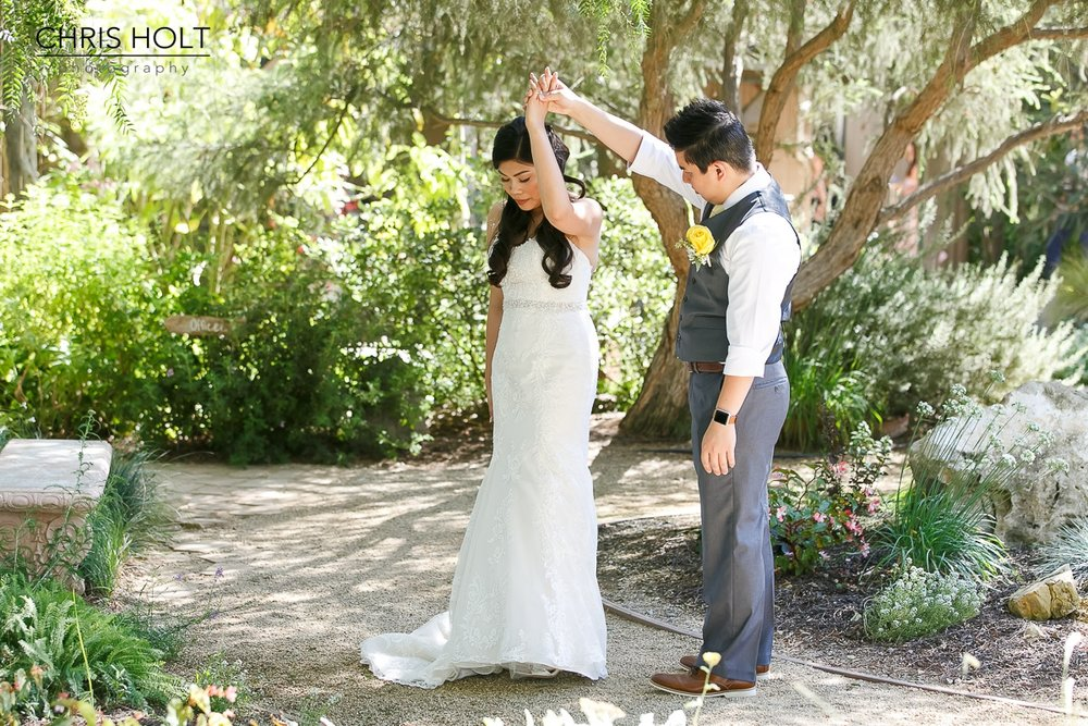 maravilla gardens, camarillo, first look, wedding, groom, bride, intimate wedding, photographers near me, chris holt