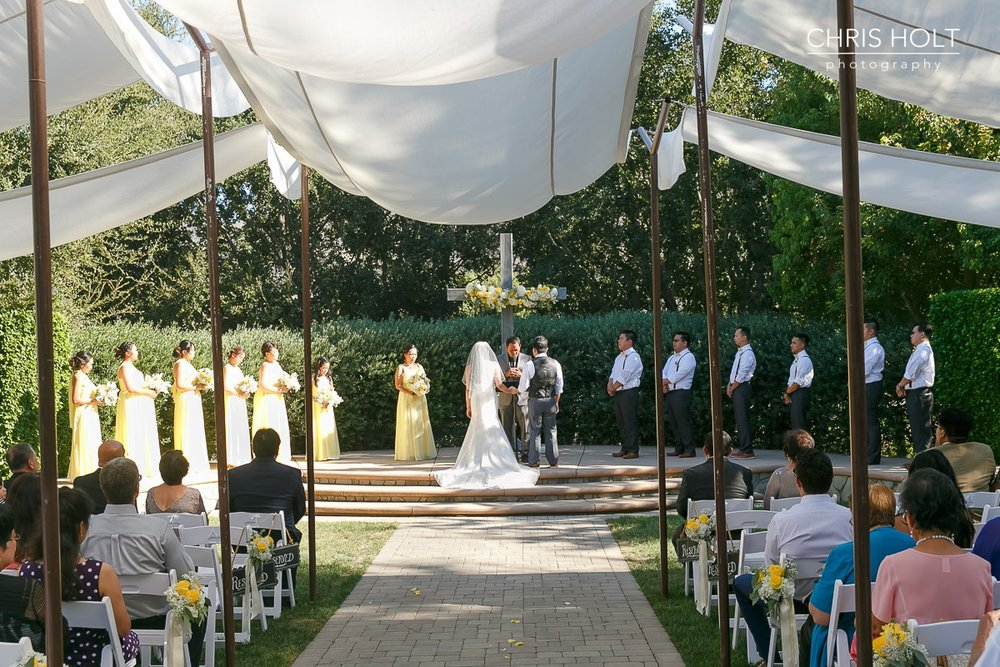 outdoor ceremony, maravilla gardens, camarillo, intimate wedding, photographers near me, chris holt