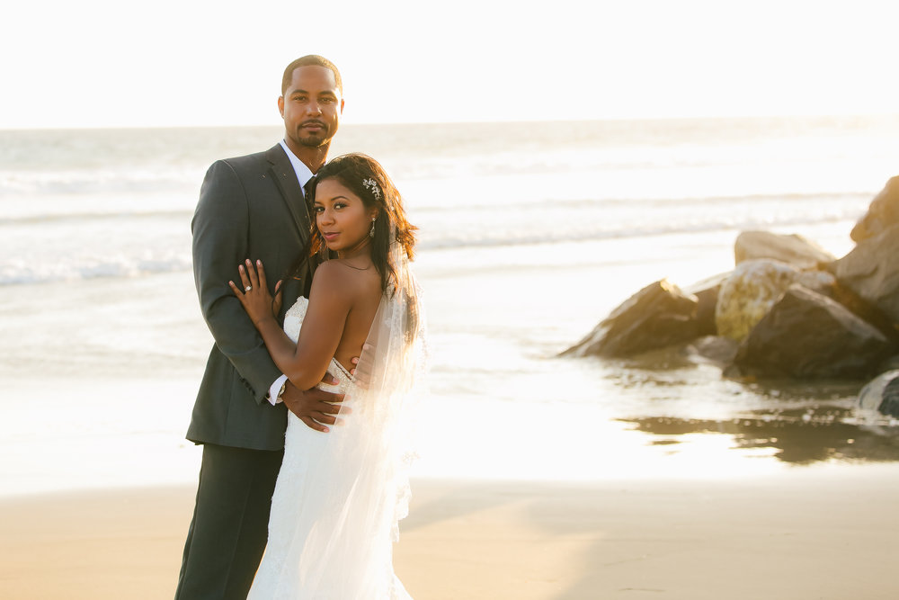 Malibu West Beach Club Sunset Bridal Portraits