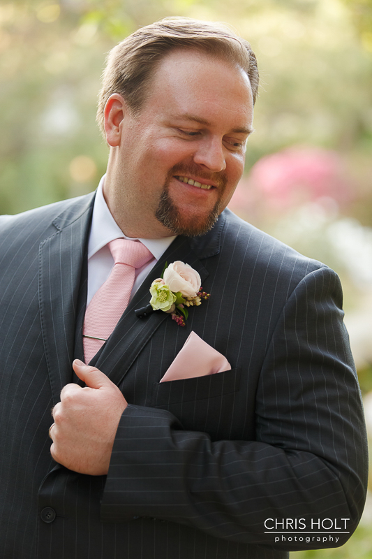 Happy Groom profile at Storrier-Stearns Japanese Garden