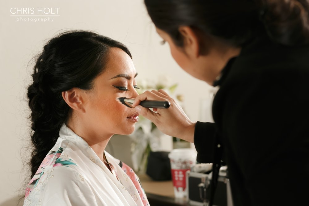 bridal makeup preparation