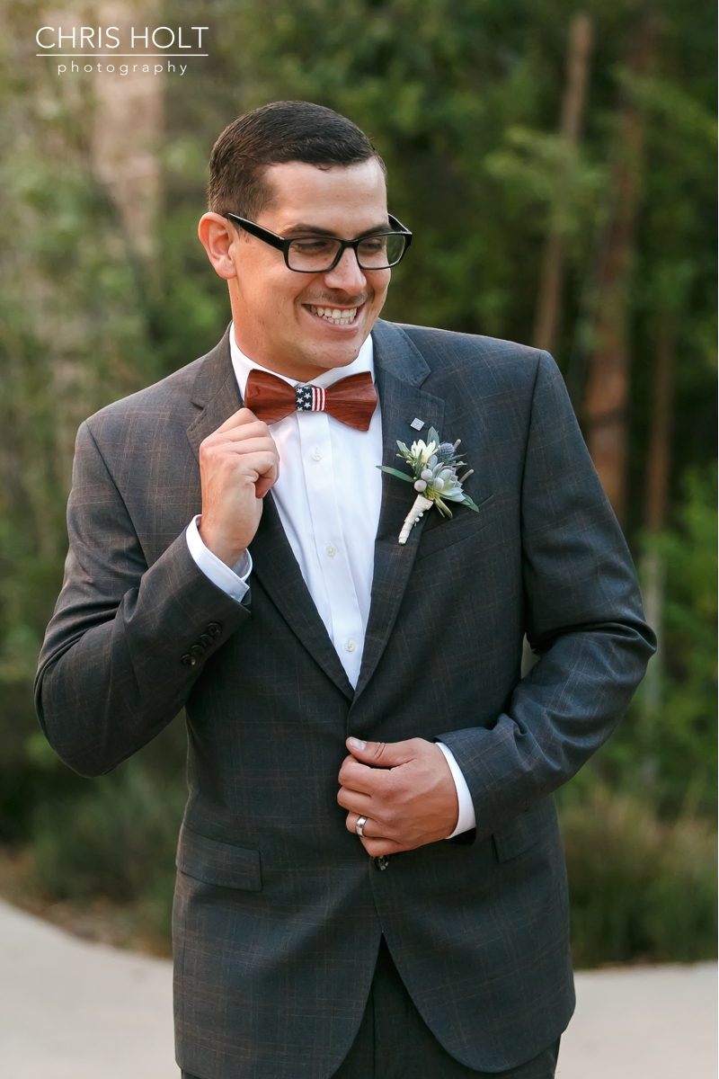dapper groom at Fullerton Community Center