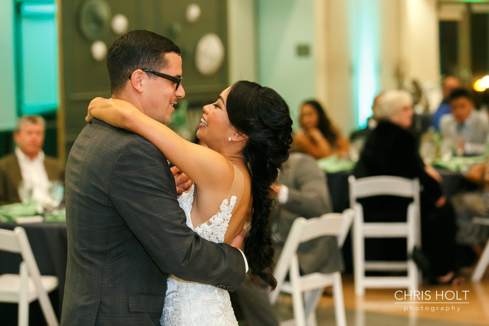 First Dance with Bride and Groom at Fullerton Community Center