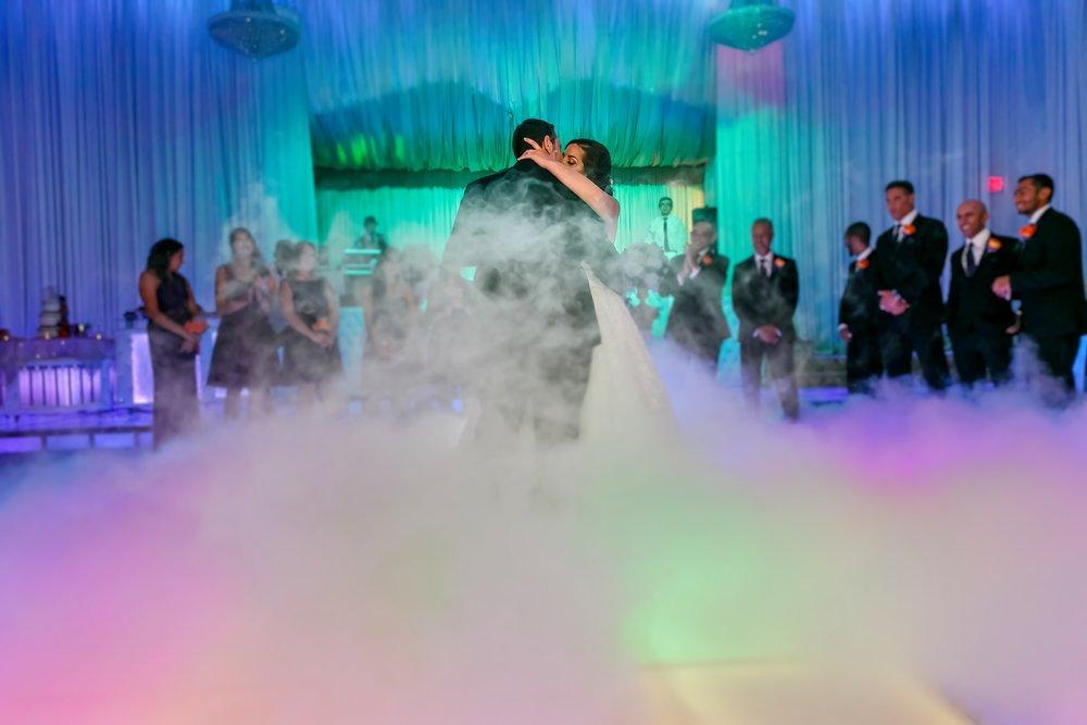 Los Angeles Wedding First Dance with Fog