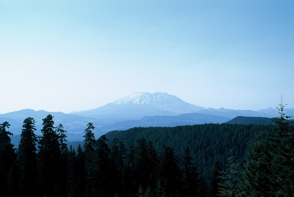 Mount St. Helens (from Mc Clellan Viewpoint) Washington, 2012.