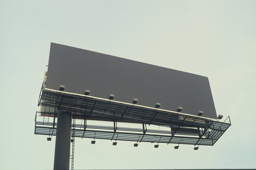 Grey Billboard (close) Brooklyn, New York, 2009.
