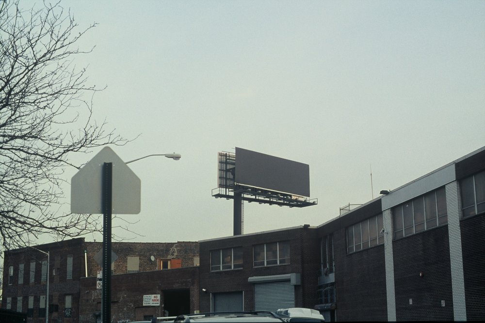 Grey Billboard, Brooklyn New York, 2009
