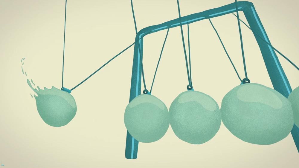 Newton's Craddle Animation - Visual Interpretation