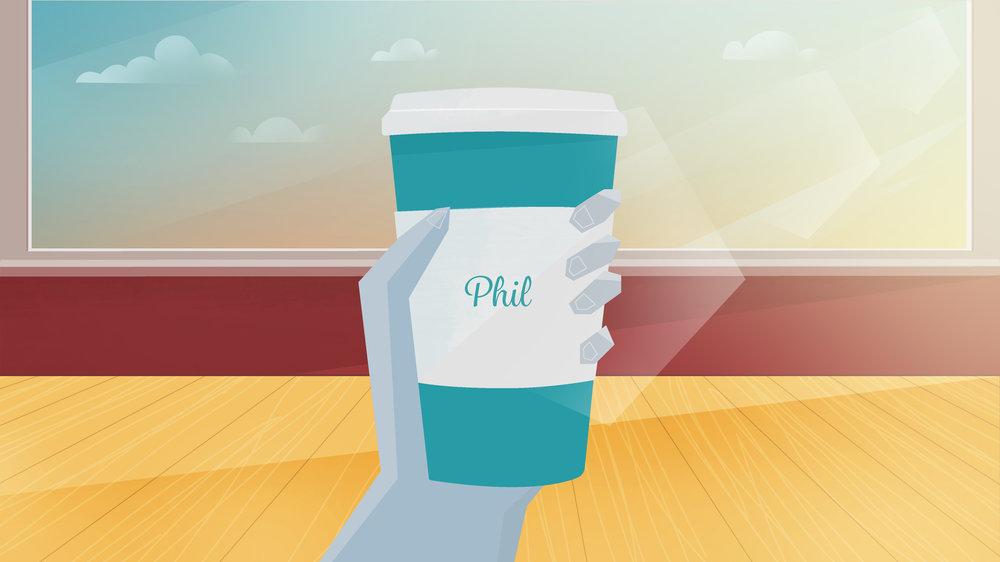 coffee mug illustrstion