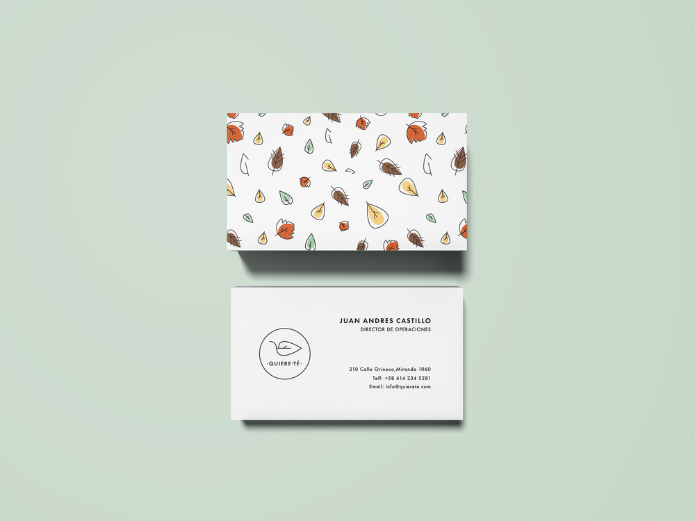 Quierete business card