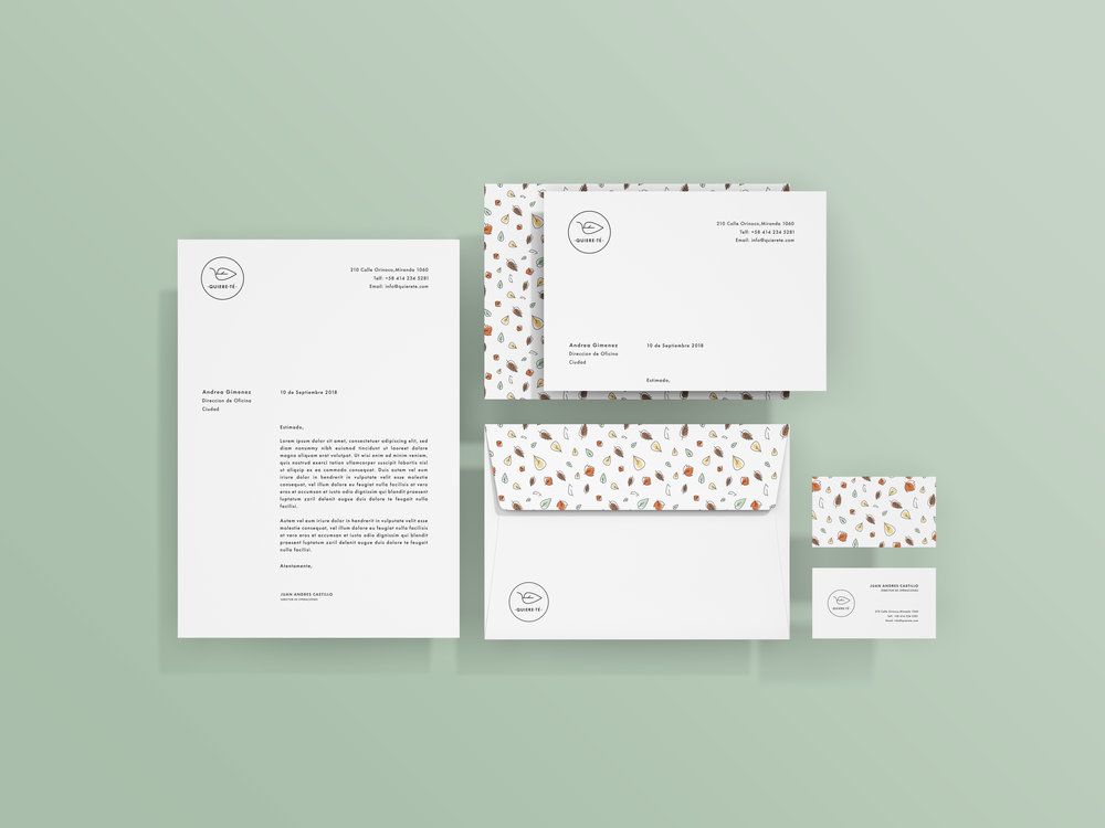 Quierete Branding Stationary