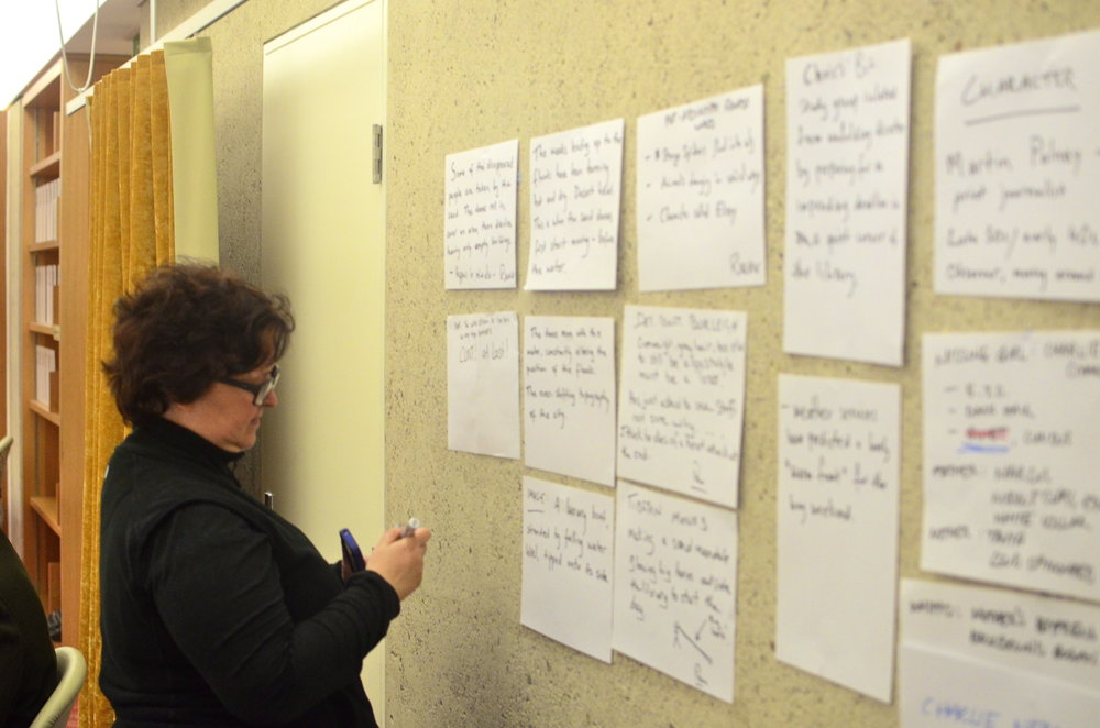 Krissy Kneen adds to the wall of shared ideas, June 2012