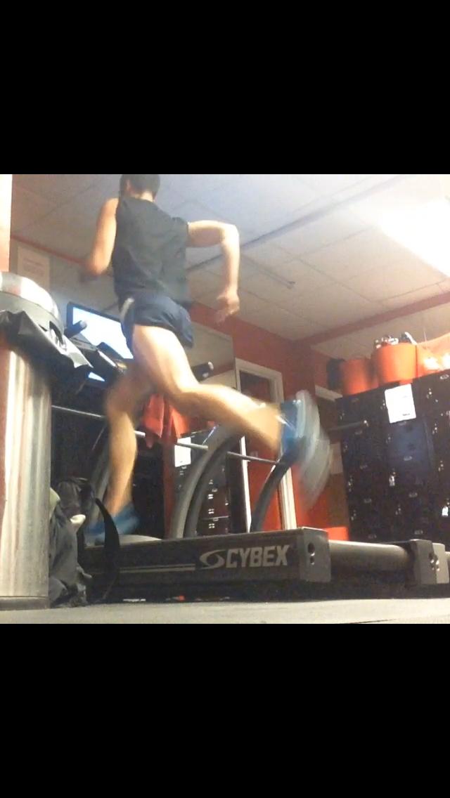 Stock photo of me on treadmill