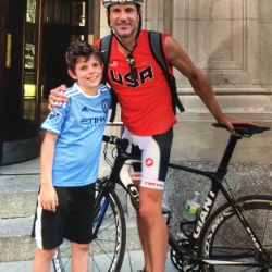NYC Running Coach Sean Fortune teaches kids to cycle safely in New York City