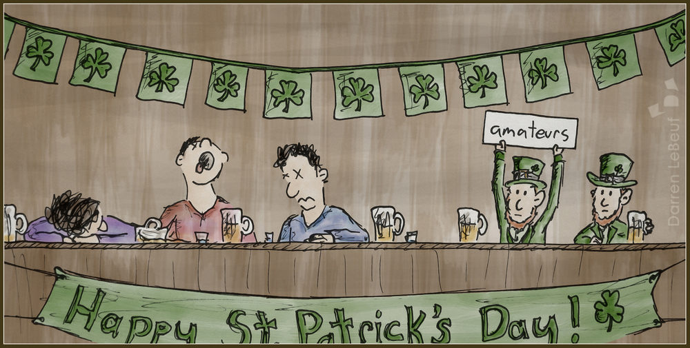 St. Patrick's Day - the Land of le Beef, by Darren Lebeuf
