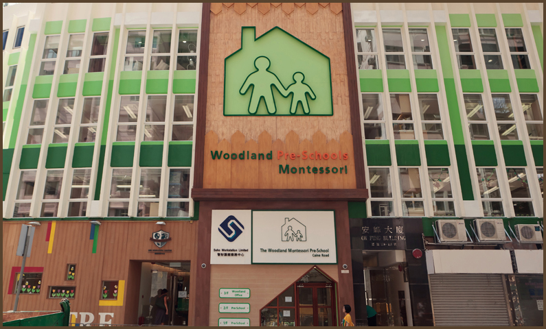 the Woodland Montessori Academy from the outside...