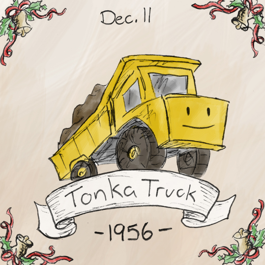 I seem to remember having a Tonka Truck growing up, which probably accounts for my extremely high lev     els of manliness.   The Tonka company (originally named Mound Metalcraft) started off making garden tools, but eventually diversified into the toy market, and history was made.